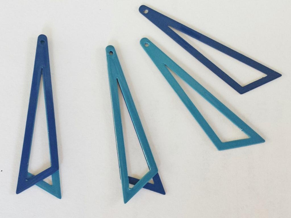 Bedel asymmetrische driehoek 453813mm 2 tinten blauw