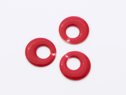 Letali bedel email rond opening 18mm rood