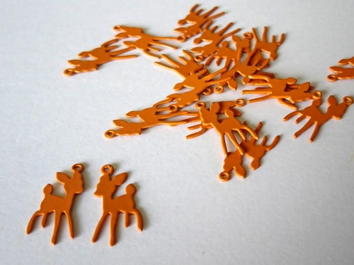 Letali bedel hertje 17x9mm oranje