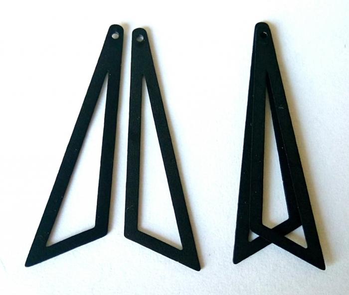 Letali bedel ongelijke driehoek 2 paar zwart