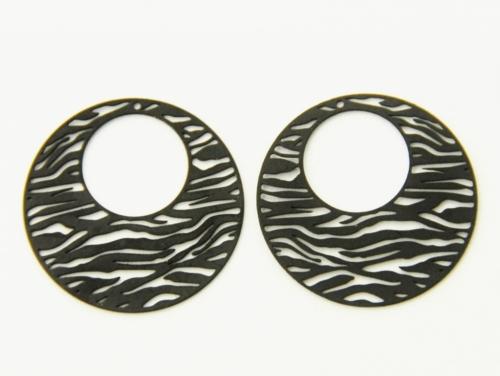Letali bedel zebra rond 25mm
