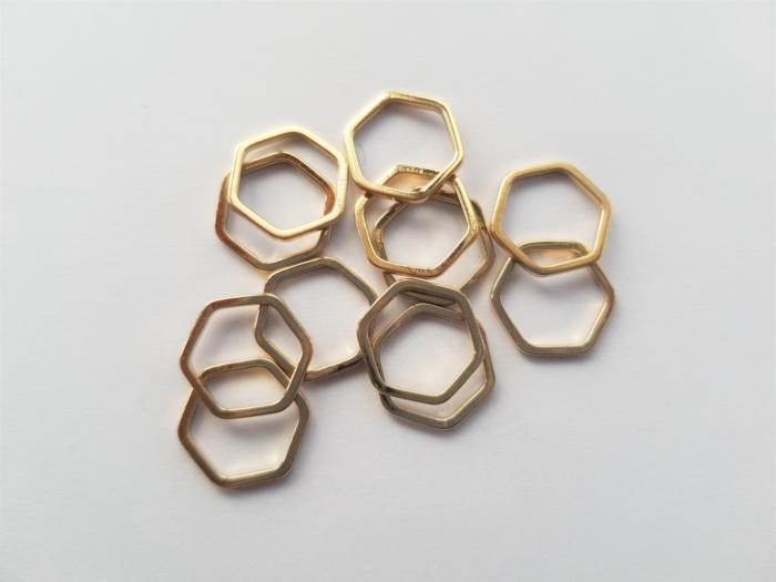 Letali bedel_tussenstuk zeshoek 12mm goud
