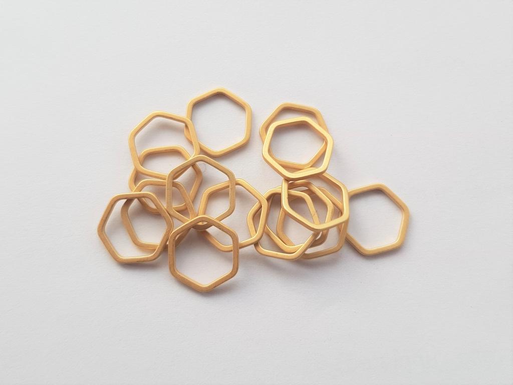 Letali bedel_tussenstuk zeshoek 12mm mat goud