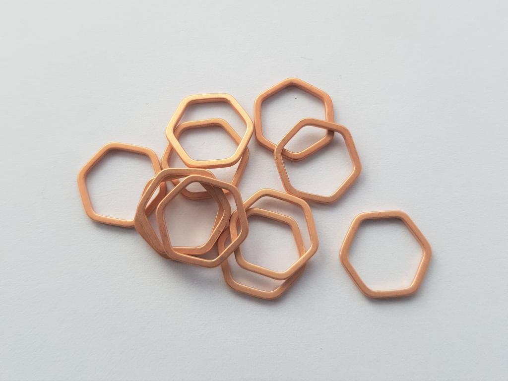 Letali bedel_tussenstuk zeshoek 12mm mat rose