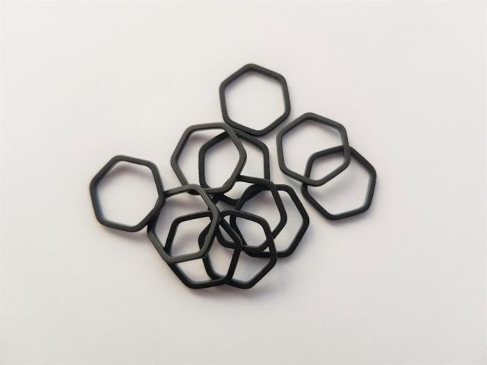 Letali bedel_tussenstuk zeshoek 12mm mat zwart
