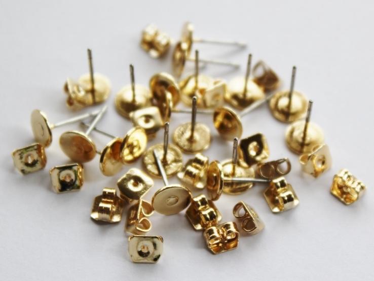 Letali oorhaken stekertje 6mm goud