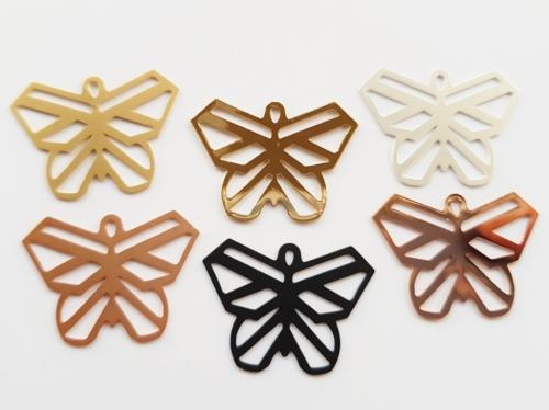 Letali origami bedel vlinder 27x20mm mix