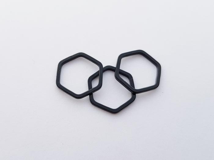 Letali bedel_tussenstuk zeshoek 12mm zwart