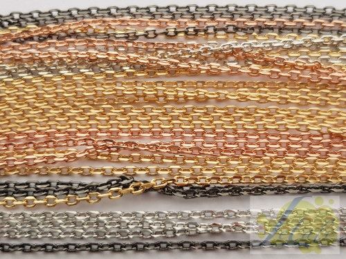 Letali facet ketting 2mm_ mix