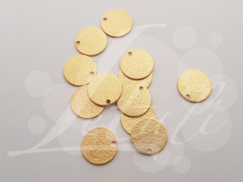 Letali bedel rond zand 12mm_mat goud