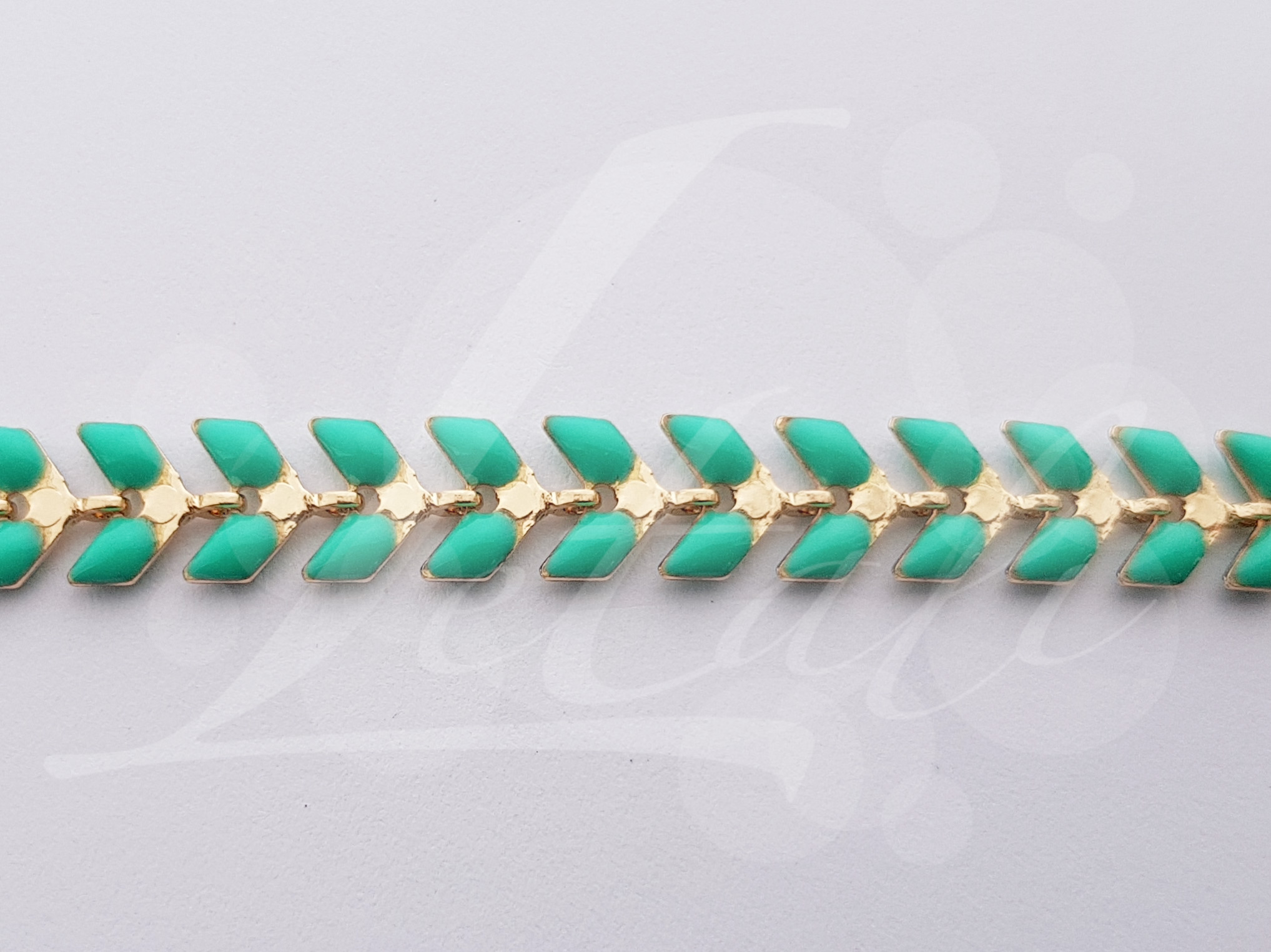 Letali email ketting_licht turquoise 5