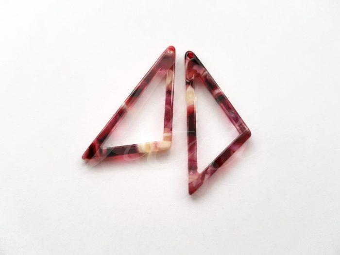 Letali kunsthars bedel 39x17x2.5 open driehoek rood