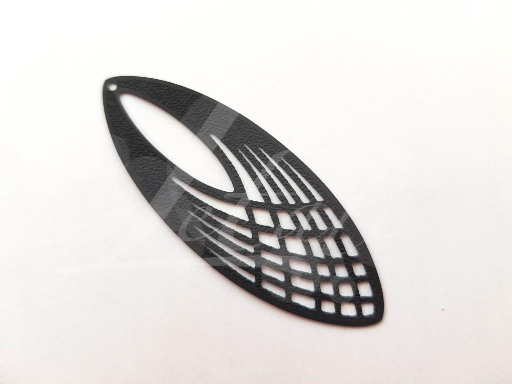 Letali bedel oogvorm 60mm mat zwart