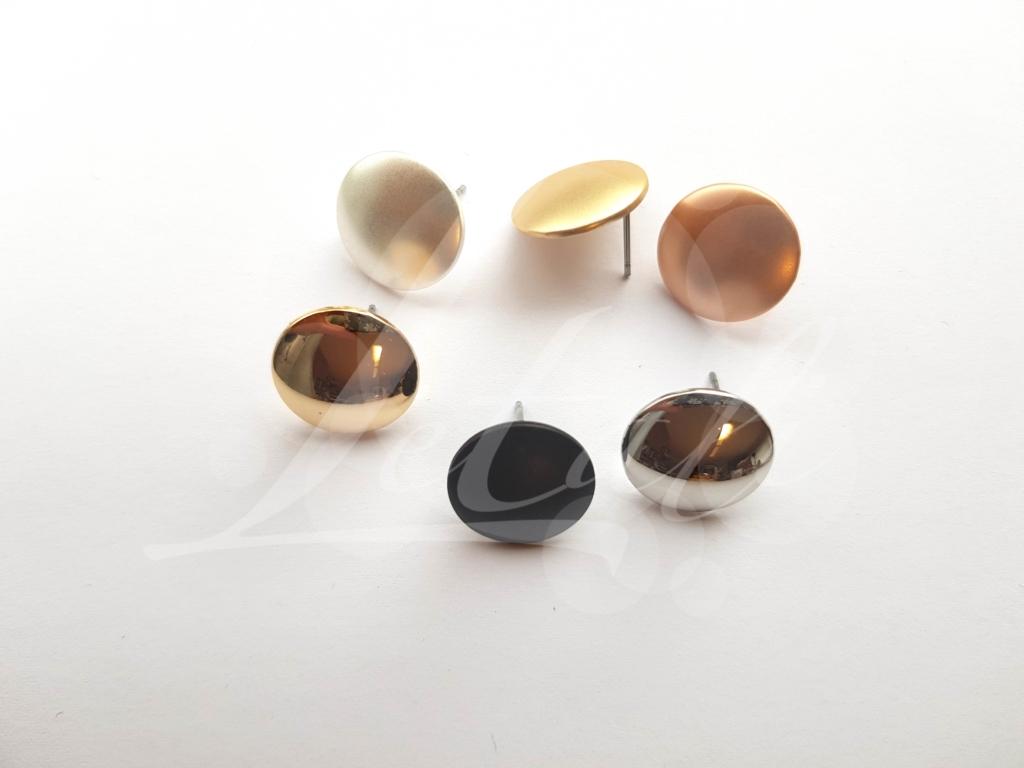 Letali oorhaken steker 15mm met oogje glad mix