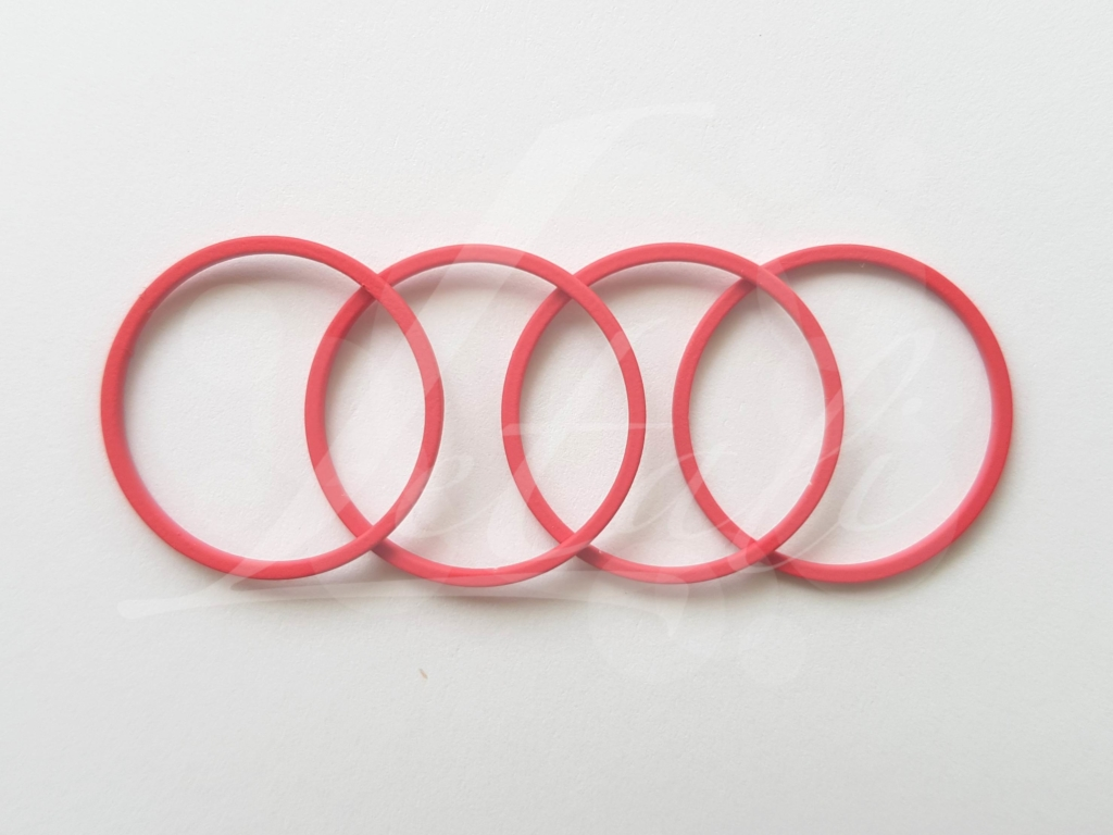Letali bedel_tussenstuk cirkel 22mm rubber bessen rood