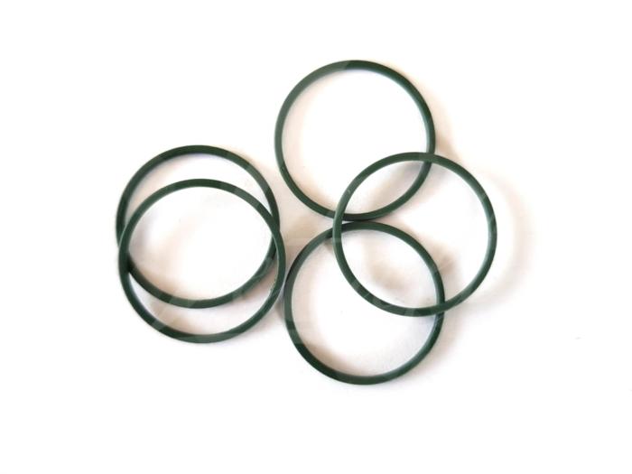 Letali bedel_tussenstuk cirkel 22mm rubber college groen