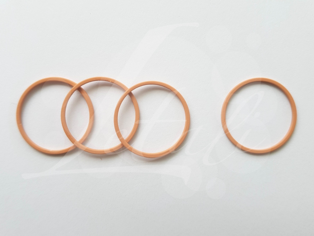 Letali bedel_tussenstuk cirkel 22mm rubber nude