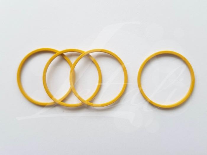 Letali bedel_tussenstuk cirkel 22mm rubber oker