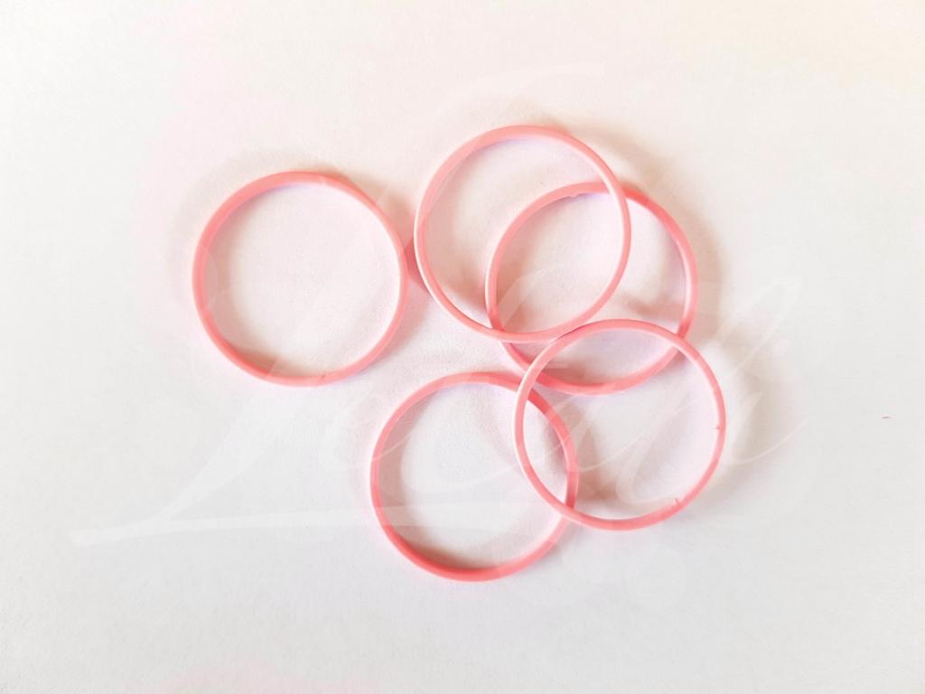Letali bedel_tussenstuk cirkel 22mm rubber roze_