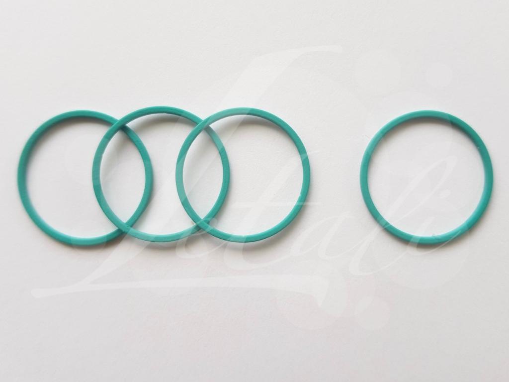 Letali cirkel 22mm rubber turquoise