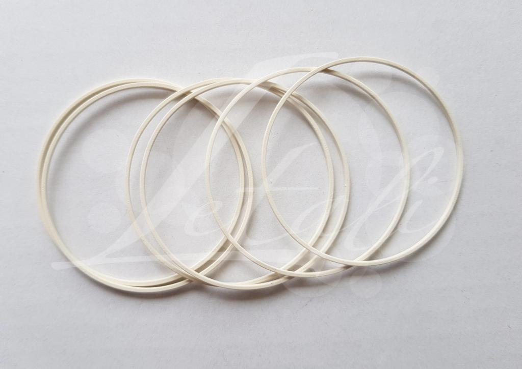Letali bedel_tussenstuk cirkel 50mm rubber ivoor