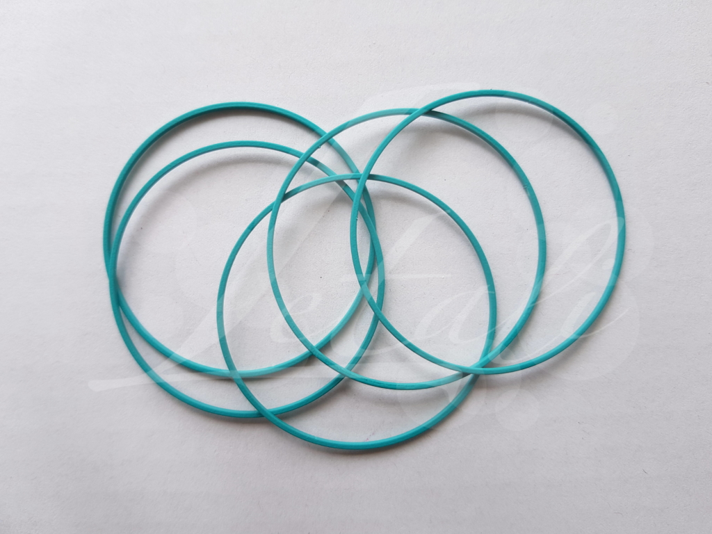 Letali bedel_tussenstuk cirkel 50mm rubber turquoise