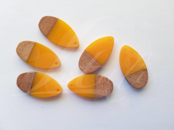 Letali hars en hout bedel gesloten druppel mm geel