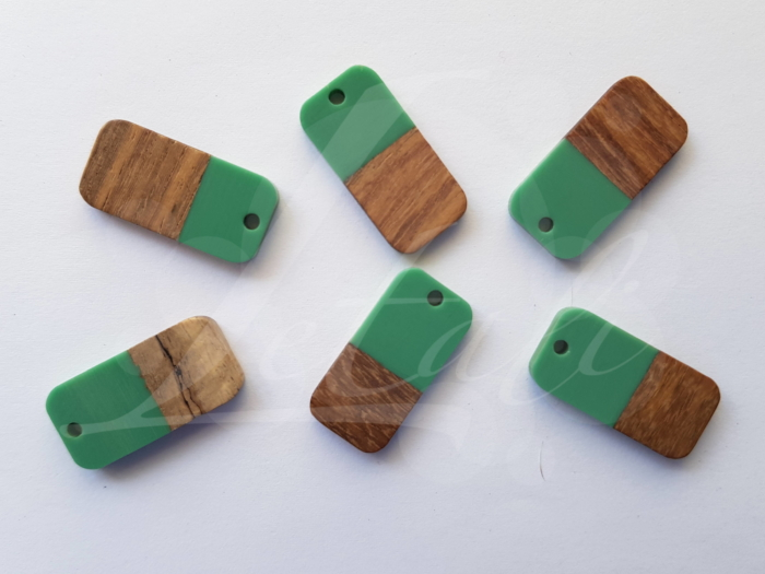 Letali hars en hout bedel rechthoek mm groen