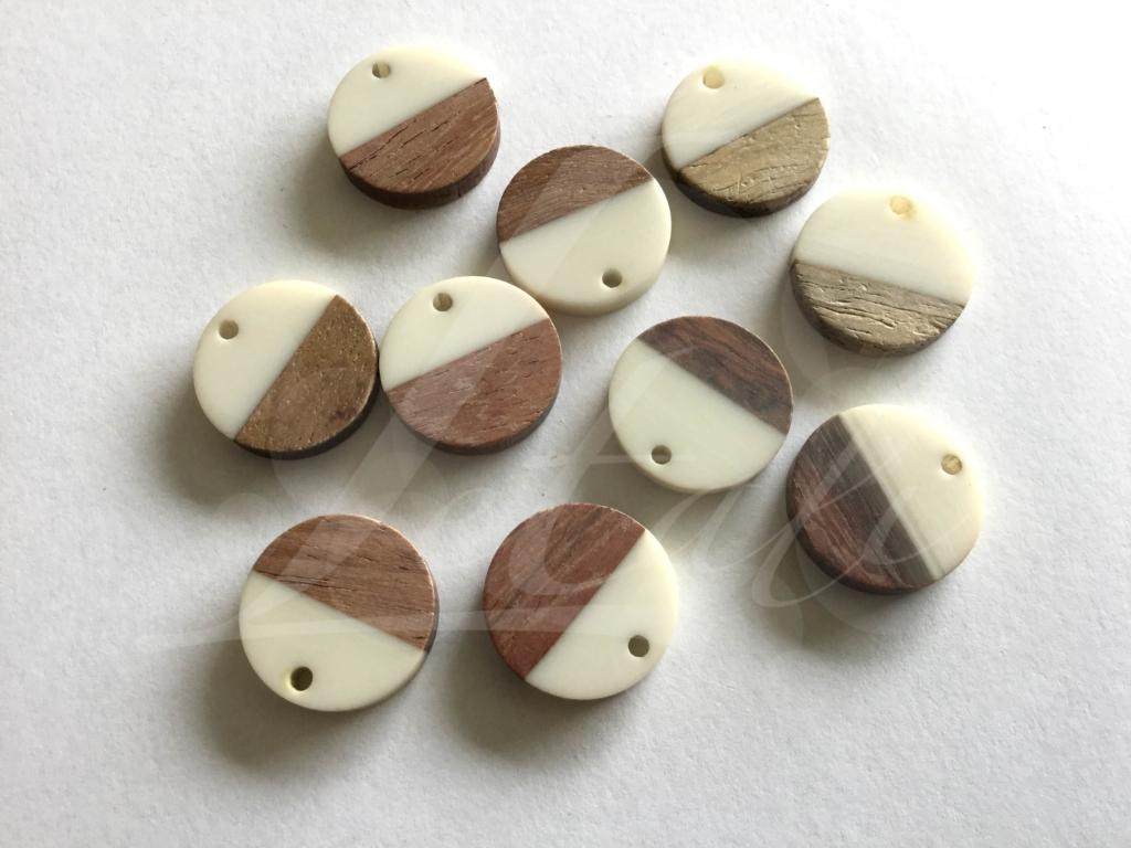 Letali hars en hout bedel rond 18mm wit