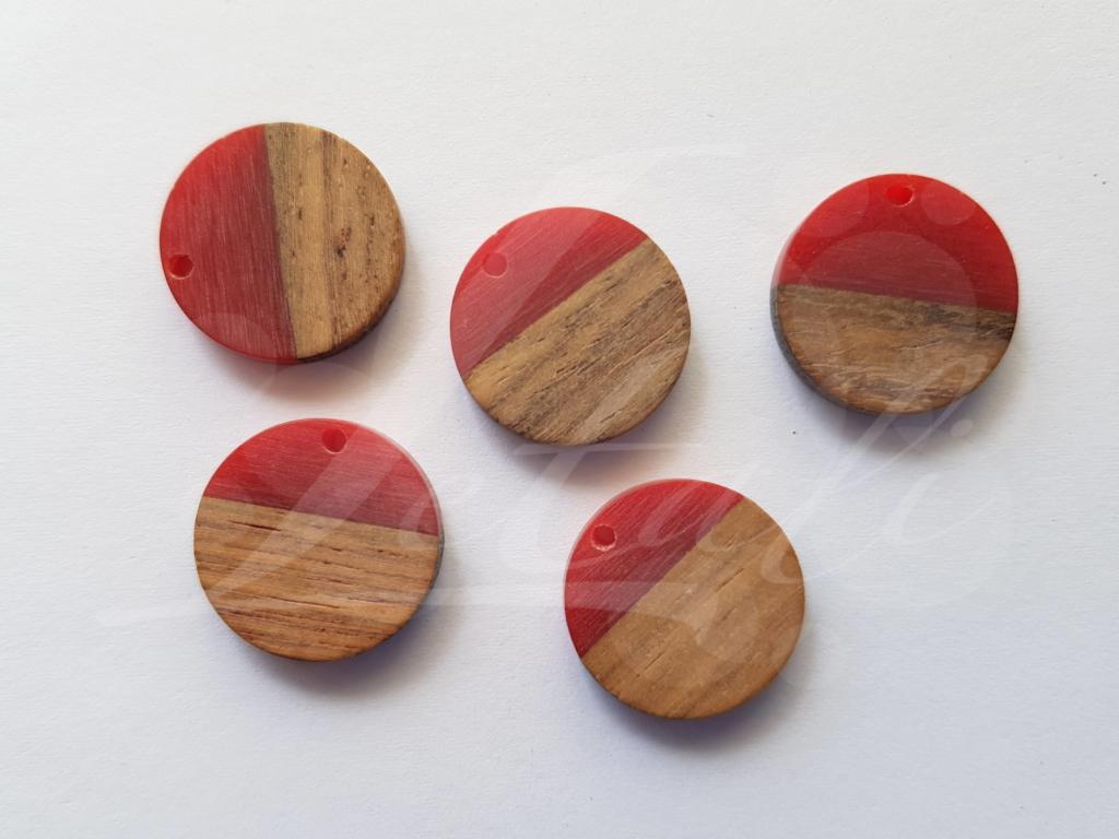 Letali hars en hout bedel rond klein mm rood