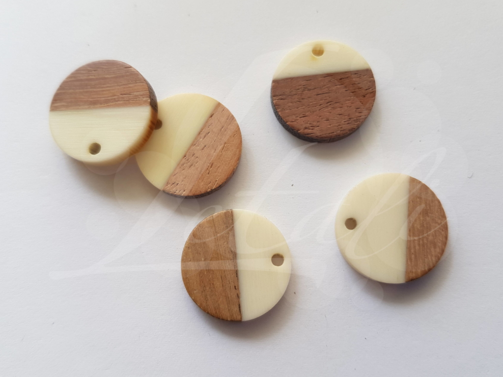 Letali hars en hout bedel rond klein x mm ivoor