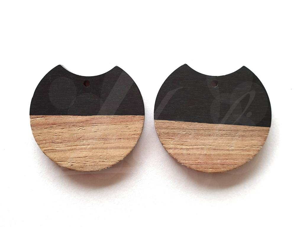 Letali hars en hout bedel rond hap uit 33x37mm zwart