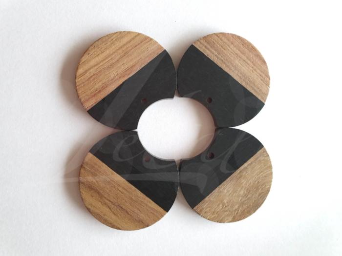Letali hars en hout bedel rond hap uit 33x37mm zwart_