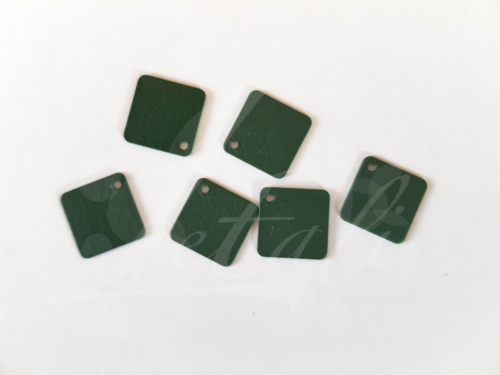 Letali_bedel_sanded vierkant_12x12mm_rubber donker groen