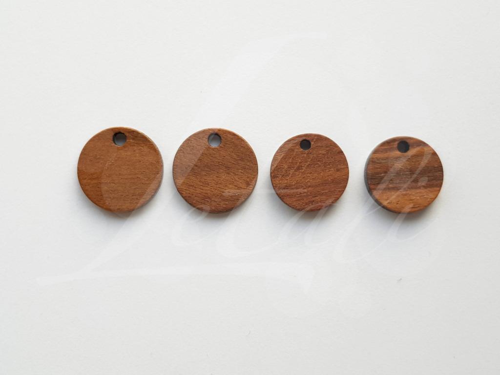 Letali bedel hout rond 13 en 15x2.5mm