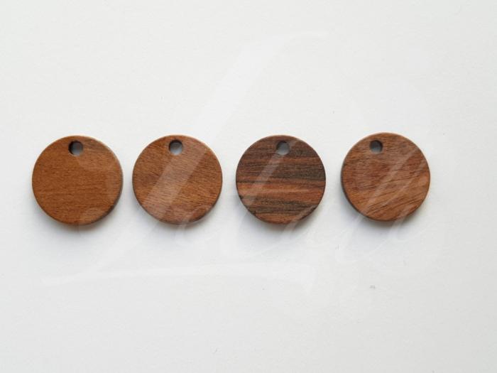 Letali bedel hout rond 13x2.5mm