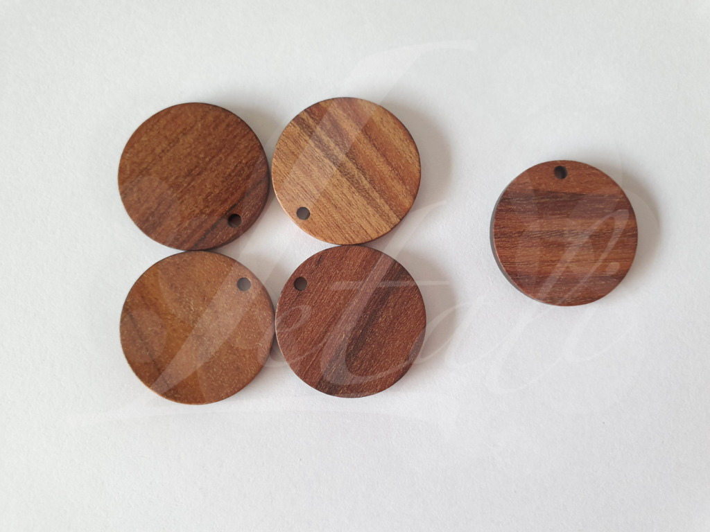 Letali bedel hout rond 25x3.5mm