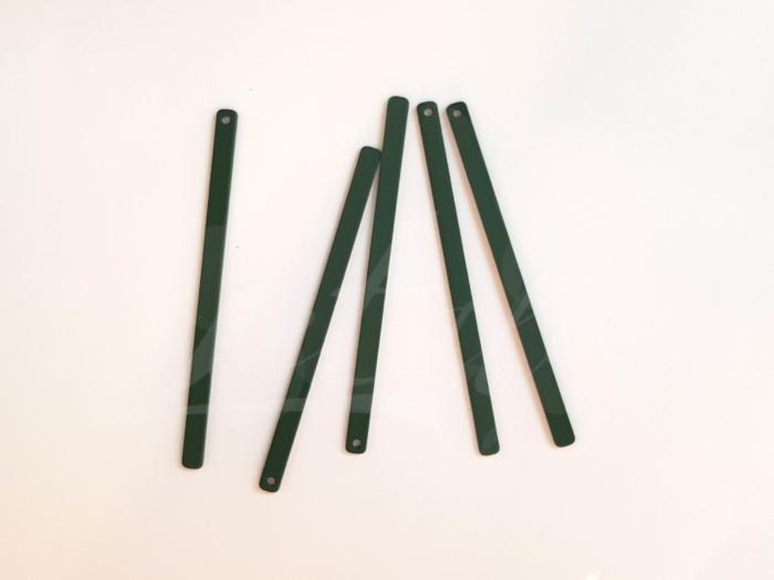Letali_bedel_staafje_56x3mm_rubber donker groen