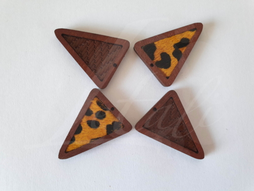 Letali bedel hout-leer_driehoek mix_35x27x4