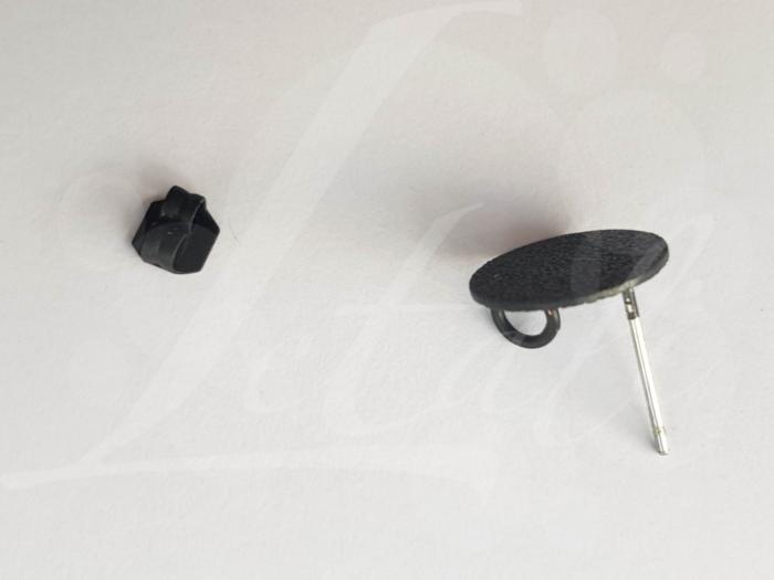 Letali oorhaken steker 12mm korrelig plat met oogje