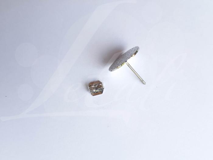 Letali oorhaken steker 12mm korrelig plat_setker in midden