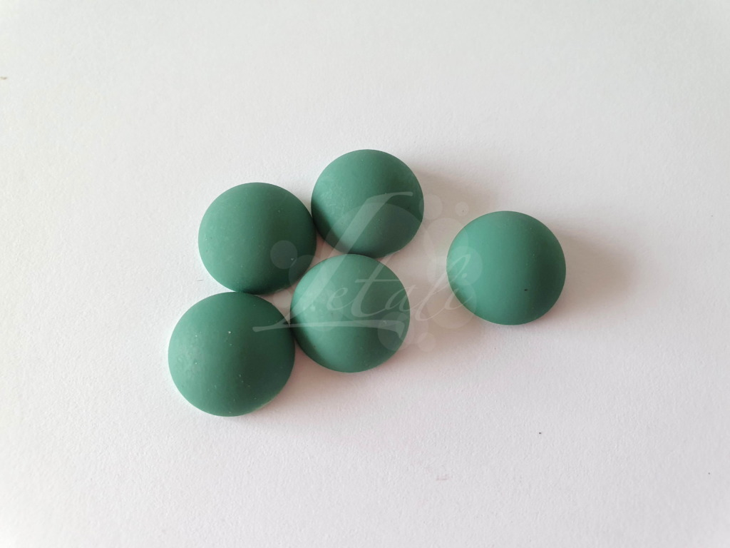 Letali rubber cabochon 14x7mm