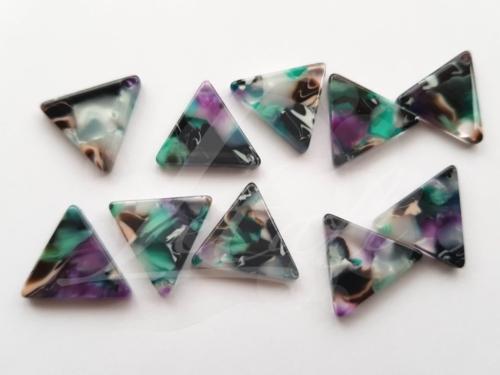 Letali kunsthars bedel driehoekje_blauw