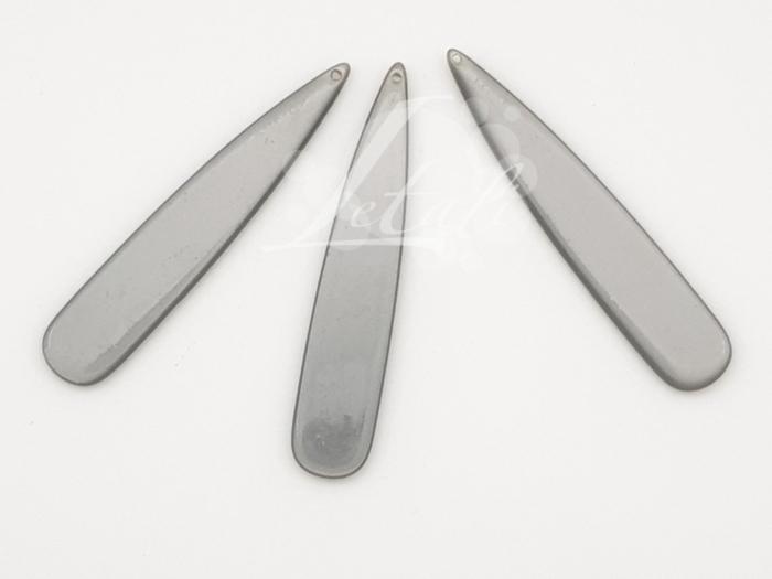 Letali bedel lange druppel_53x10x2.5mm_grijs